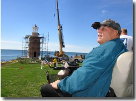 Avery Point Lighthouse Society co-chairman Dale Treadway