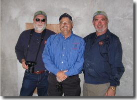 (L to R) Tom Pregman, Jim Streeter & Ron Foster inside Avery Point Light