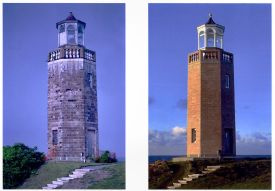Avery Point Lighthouse Before and After