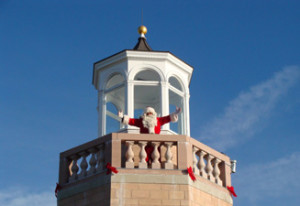 Santa at Avery Point Light