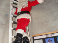 Santa Claus at Avery Point Light