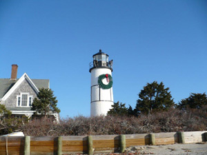A Festive Looking Sandy Neck Lighthouse at Christmas