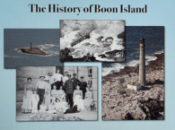 Jeremy D'Entremont presented a history of Boon Island Lighthouse during Boon Island Day on January 23, 2011 (Photo by Ann-Marie Trapani)