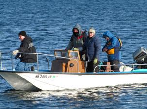 Gary Sredzienski's support boat