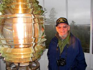Former lightkeeper Ernie DeRaps