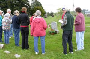 Corbett gravesite ceremony