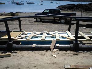 Floating walkway repairs