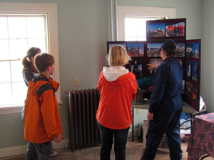 Visitors Talk Lighthouses with the Coast Guard