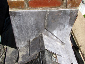 Lead copper flashing