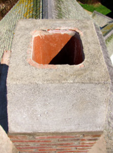 View of a pre-cast concrete cap