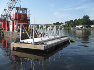 New Floating Dock and Ramps for Pomham Rocks Lighthouse