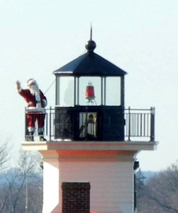 Pomham Santa at the lighthouse