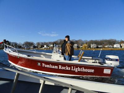 A Pomham Rocks boat