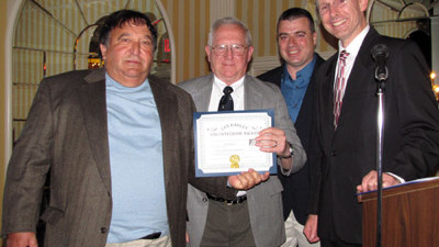 Joseph Estrella of the Friends of Pomham Rocks Lighthouse is Presented with an ALF Volunteer Award
