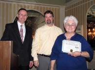 E.J. Warren of the Friends of Portsmouth Harbor Lighthouses is Presented with an ALF Volunteer Award