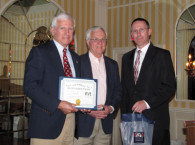 Bob Orcutt of the Friends of Wood Island Lighthouse is Presented with an ALF Volunteer Award