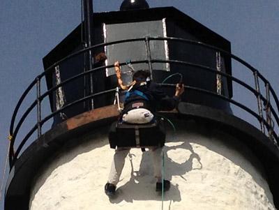 Repainting the lantern