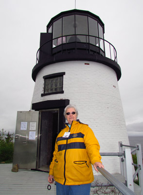 Marla Rogers will speak on June 29th about growing up at Owls Head Lighthouse. (Photo by Bob Trapani, Jr.)