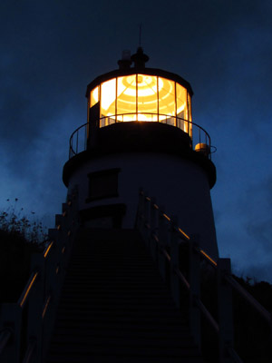 Owls Head Lighthouse aglow (Photo by Bob Trapani, Jr.)