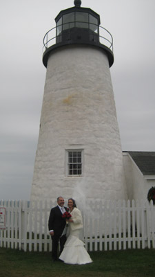 Nick Verducci and Wanda Martinez were married at Pemaquid Point Lighthouse on 12/5/13 (Photo courtesy of FPPL)