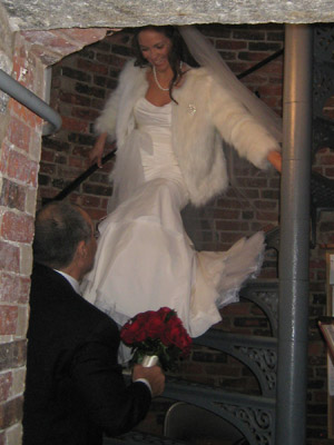 Wanda decends the tower staircase as Nick waits for her at the base (Photo courtesy of FPPL)