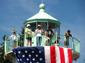 Visitors at Little River Lighthouse