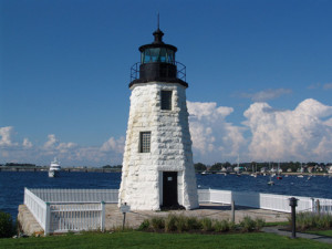 Newport Harbor Light aka Goat Island Light