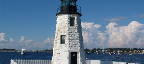 Newport Harbor Light aka Goat Island Light