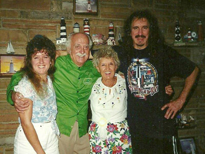 (L to R) Gary's sister Sherrie Pros, their father and mother, and Gary Pros (Photo courtesy of Sherrie Pros)
