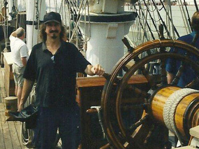 """Gary Pros - a dedicated """"keeper of the lights"""" whose passion for lighthouses will shine on for future generations!  (Photo courtesy of Sherrie Pros)"""