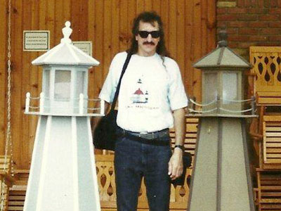 Gary Pros, like so many of us, loved lighthouses. (Photo courtesy of Sherrie Pros)
