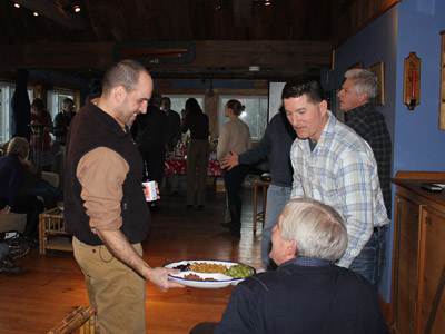 The Maine Island Trail Association hosted a celebration party for the Perkins Island project on 1/23/15 in Phippsburg.  (Photo by Ann-Marie Trapani)