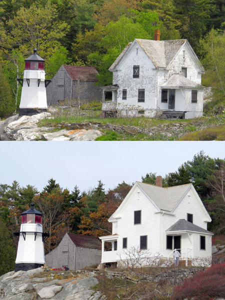 The goal of all involved with this project is to preserve and care for a Kennebec River historic treasure. (Photos by Bob Trapani, Jr.)