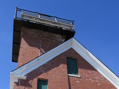 Rust will be removed from the underside of the lantern. (Photo by Bob Trapani, Jr.)