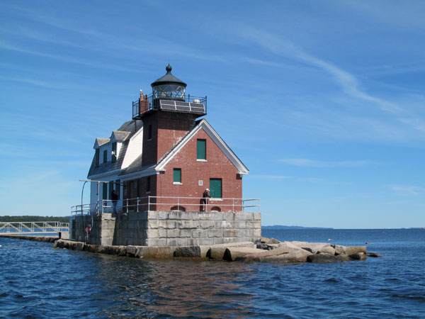ALF's Friends of Rockland Harbor Lights work hard to keep the lighthouse looking its best. (Photo by Bob Trapani, Jr.)