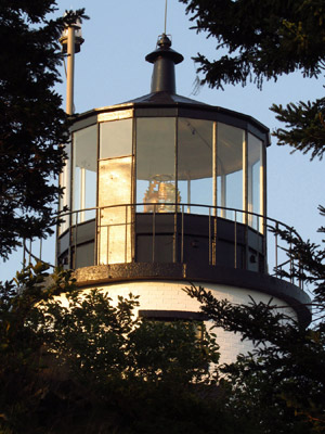 The luster will be restored to Owls Head Light's lantern in 2015. (Photo by Bob Trapani, Jr.)