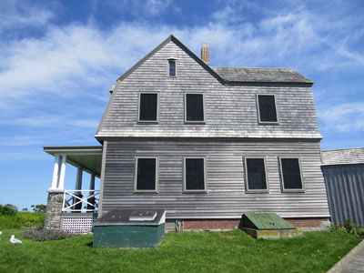 The Friends of Wood Island Lighthouse are restoring the keeper's house back to the 1906 time period.  (Photo by Bob Trapani, Jr.)
