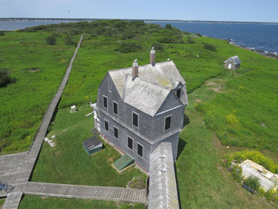 Thanks to a very generous donation from Judith Klement of Savannah, GA, the interior of the keeper's house at Wood Island Light Station will soon be restored. (Photo by Bob Trapani, Jr.)