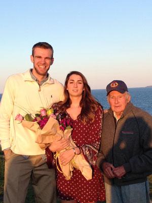 Brandon, Emily, and FPPL VP Bob Kline at Pemaquid Point Light. (Photo by Elizabeth Thompson)