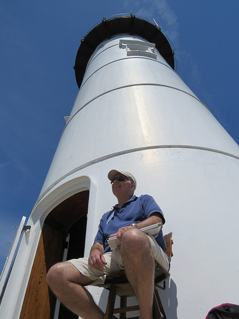 Congratulations to Dave Garabedian of the Friends of Portsmouth Harbor Lighthouses! (Photo by Bob Trapani, Jr.)