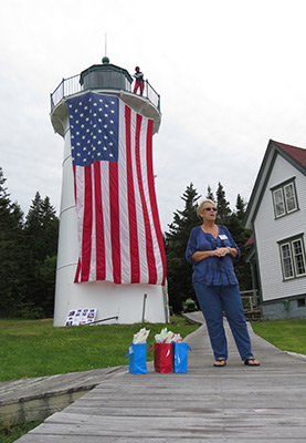 Cynthia Rowden at Little River Lighthouse. (Photo by Bob Trapani, Jr.)