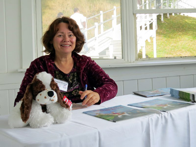 "Angeli Perrow, author of the popular book, ""Lighthouse Dog to the Rescue."" (Photo by Ann-Marie Trapani)"