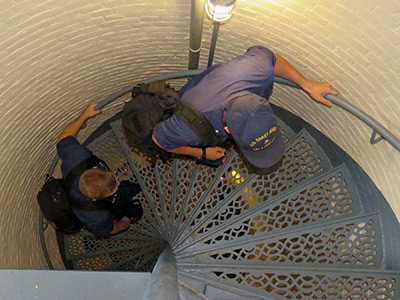 U.S. Coast Guard lighthouse technicians still keep the lights shining bright. (Photo by Bob Trapani, Jr.)