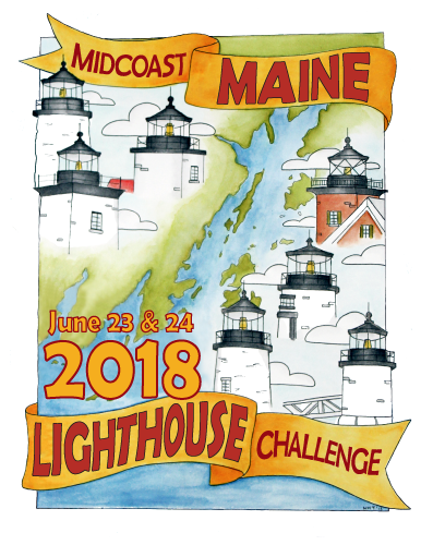 2018 Midcoast Lighthouse Challenge Artwork