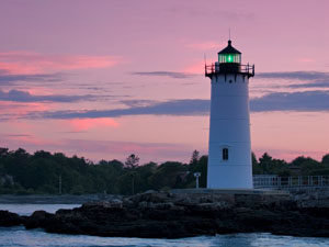 Portsmouth Harbor Light at Sunset
