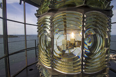 Boston Light's Fresnel lens