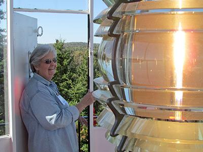 Marla Rogers in the lantern