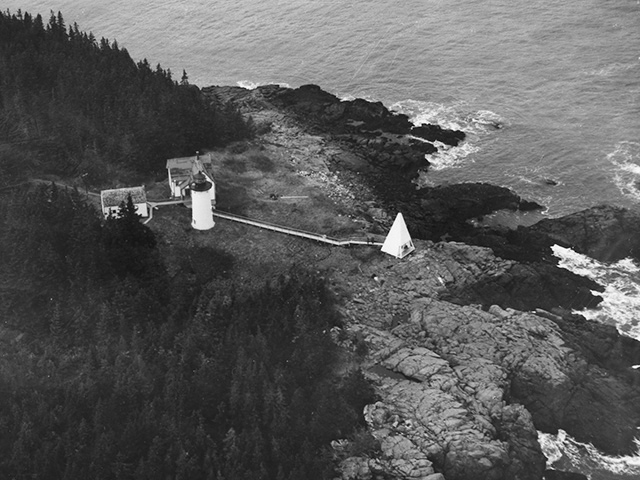 Aerial of Little River Light