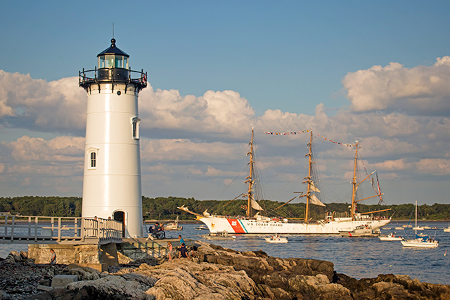 Portsmouth Harbor Lighht and the Eagle