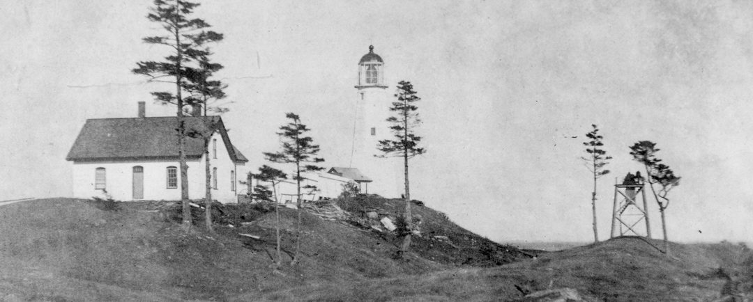 A Tornado at Cape Elizabeth Lighthouse